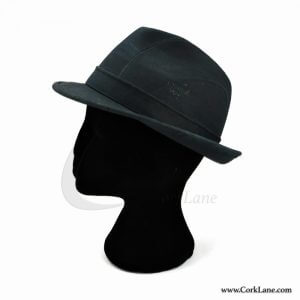 Trilby hat navy blue
