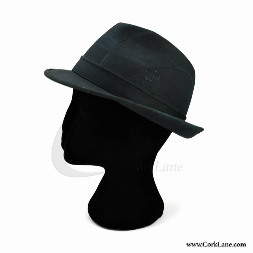 Trilby hat navy blue - vegan fashion accessories produced in Portugal dd2b7cfb572
