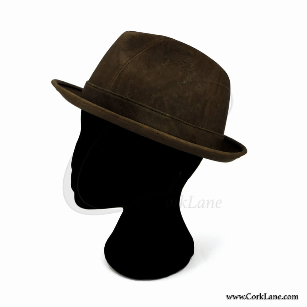Trilby hat brown - vegan fashion accessories produced in Portugal 55004eb6404