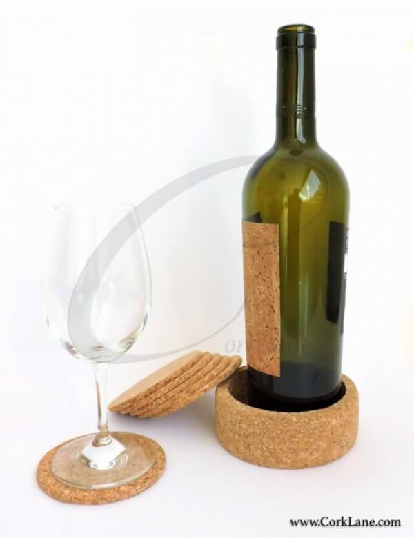 Coasters & bottle holder